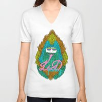 lsd V-neck T-shirts featuring Lsd party by DIVIDUS