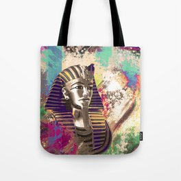 King Tut  Mask Abstract composition Tote Bag