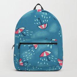 Raining Umbrella Pattern Backpack