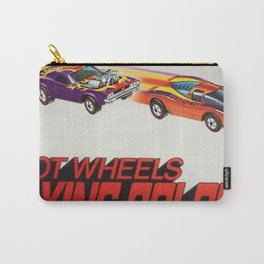 Vintage Redline Flying Colors Hot Wheels Rodger Dodger and Grand Prix Racer Poster Carry-All Pouch