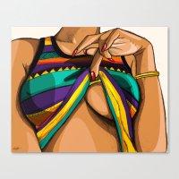 mcfreshcreates Canvas Prints featuring Peek by McfreshCreates