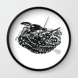 Sleeping Fawn Wall Clock