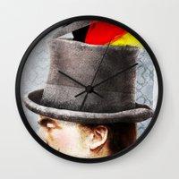 german Wall Clocks featuring German by Francesca Cosanti