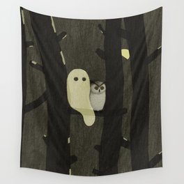 Little Ghost & Owl Wall Tapestry