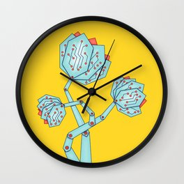 Electronic Flowers Circuit Board Petals Wall Clock
