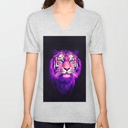 Pink Tiger Unisex V-Neck