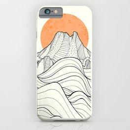 Big sun cliffs iPhone Case