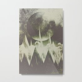 When mountains fall asleep Metal Print