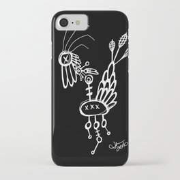 Dead Bird - White on Black iPhone Case