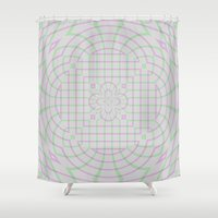 running Shower Curtains featuring Running Lines by Lena Photo Art