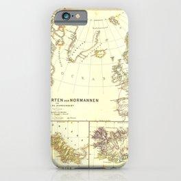 Vintage Map - Spruner-Menke Handatlas (1880) - 63 Nations and Migrations of the Normans iPhone Case