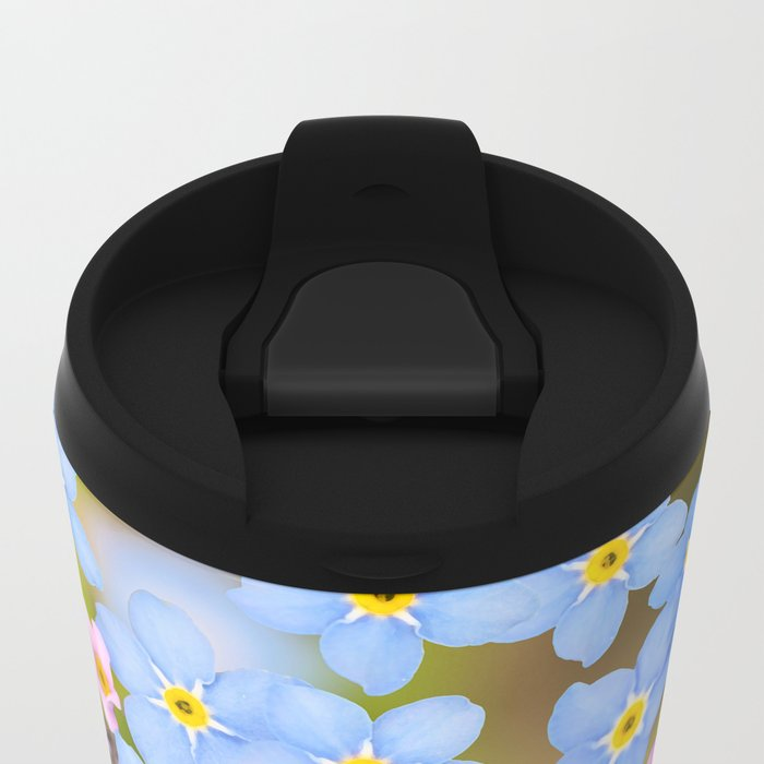 Forget-me-not flowers and buds - summer meadow Metal Travel Mug