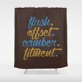 flush offset camber fitment v7 HQvector Shower Curtain