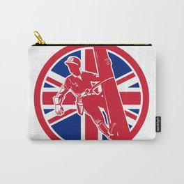 British Linesman Union Jack Flag Icon Carry-All Pouch