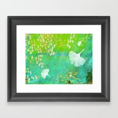 Green Ginkgo Tile Framed Art Print