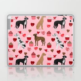 Great Danes dog breed valentines day dog must have great dane gifts Laptop & iPad Skin