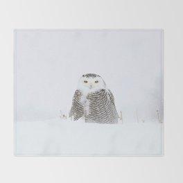 White on white Throw Blanket