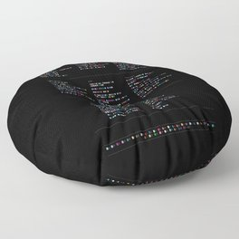 Death Cab for Cutie Discography - Music in Colour Code (Dark Background) Floor Pillow