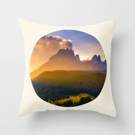 Sunrise Over The Mountains Trees & Rolling Hills Throw Pillow