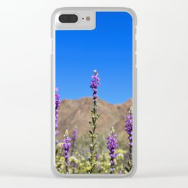 Arizona Lupines Clear iPhone Case
