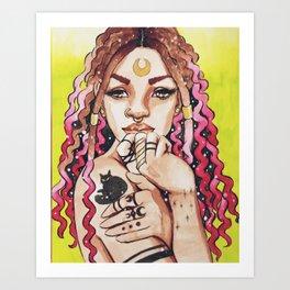 Illustration of Lucky Art Print