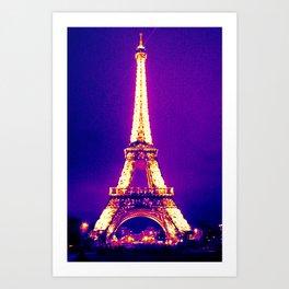 Parisian Purple Art Print