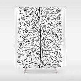 Branches and Buds Shower Curtain