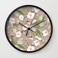 Almond orchard Wall Clock