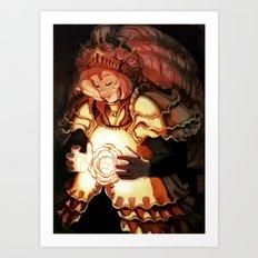 The Queen in shining armor Art Print