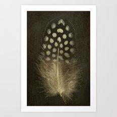 Guinea Fowl Feather Art Print