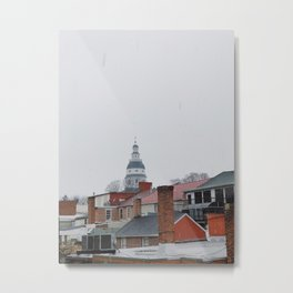 Annapolis in the snow Metal Print