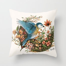Wings of Courage Throw Pillow