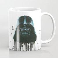 darth vader Mugs featuring Darth Vader by McCoy