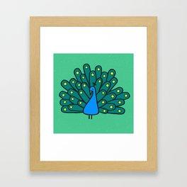 Peacock Print Framed Art Print