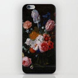 Nicolaes van Veerendael - A Bouquet of Flowers in a Crystal Vase (1662) iPhone Skin