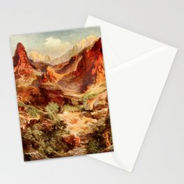 Moran, Thomas (1837-1926)  - Three wonderlands of the American West 1912 - Bright Angel Trail, Stationery Cards