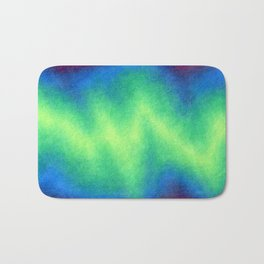 Green Abstract Bath Mat