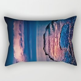 Ashbridges Bay Toronto Canada Dock At Sunrise No 1 Rectangular Pillow