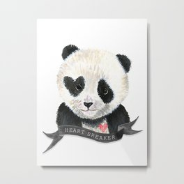 Panda Bear · Heart Breaker · Baby Animal · Nursery Art · Kids Room Metal Print