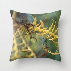 Rag bag of mind and thoughts in colours Throw Pillow