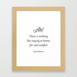 Jane Austen - Home Framed Art Print