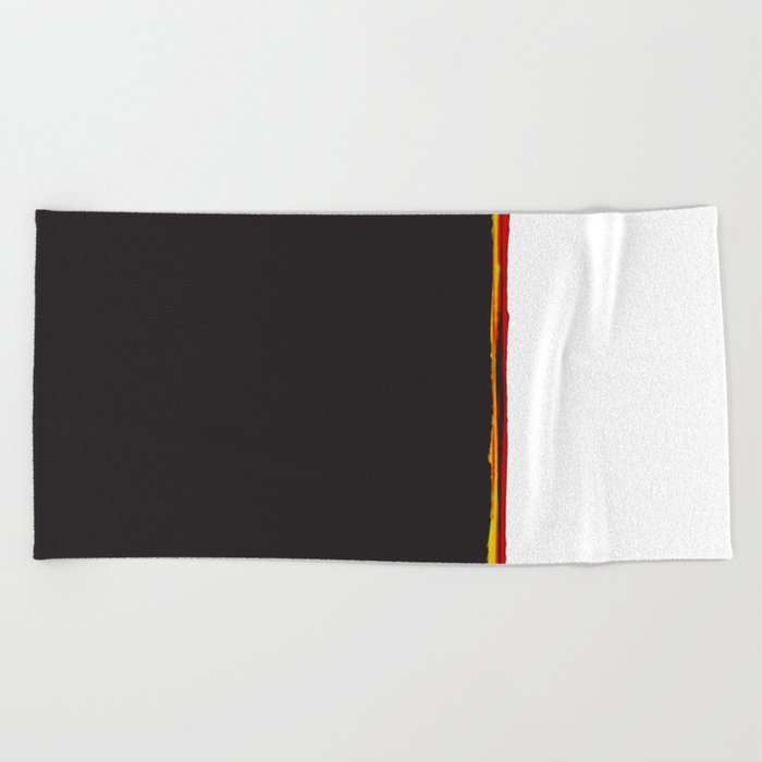 No Traveler Returns Abstract Print Beach Towel