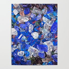 Blue On The Rocks Poster