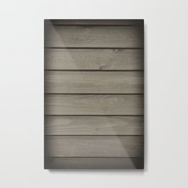 Grey toned boards texture abstract Metal Print