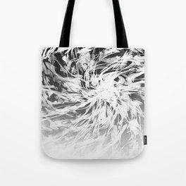 B&W Abstract Spiral Tote Bag
