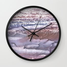 Violet brown hand-drawn wash drawing Wall Clock