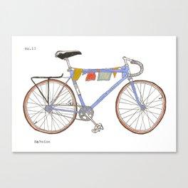 Blue Bike no 12 Canvas Print