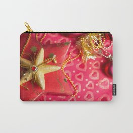 Christmas presents at red background Carry-All Pouch