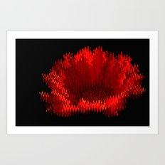 Gerbera On Fire Art Print