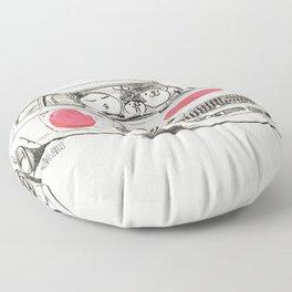 Crazy Car Art 0168 Floor Pillow